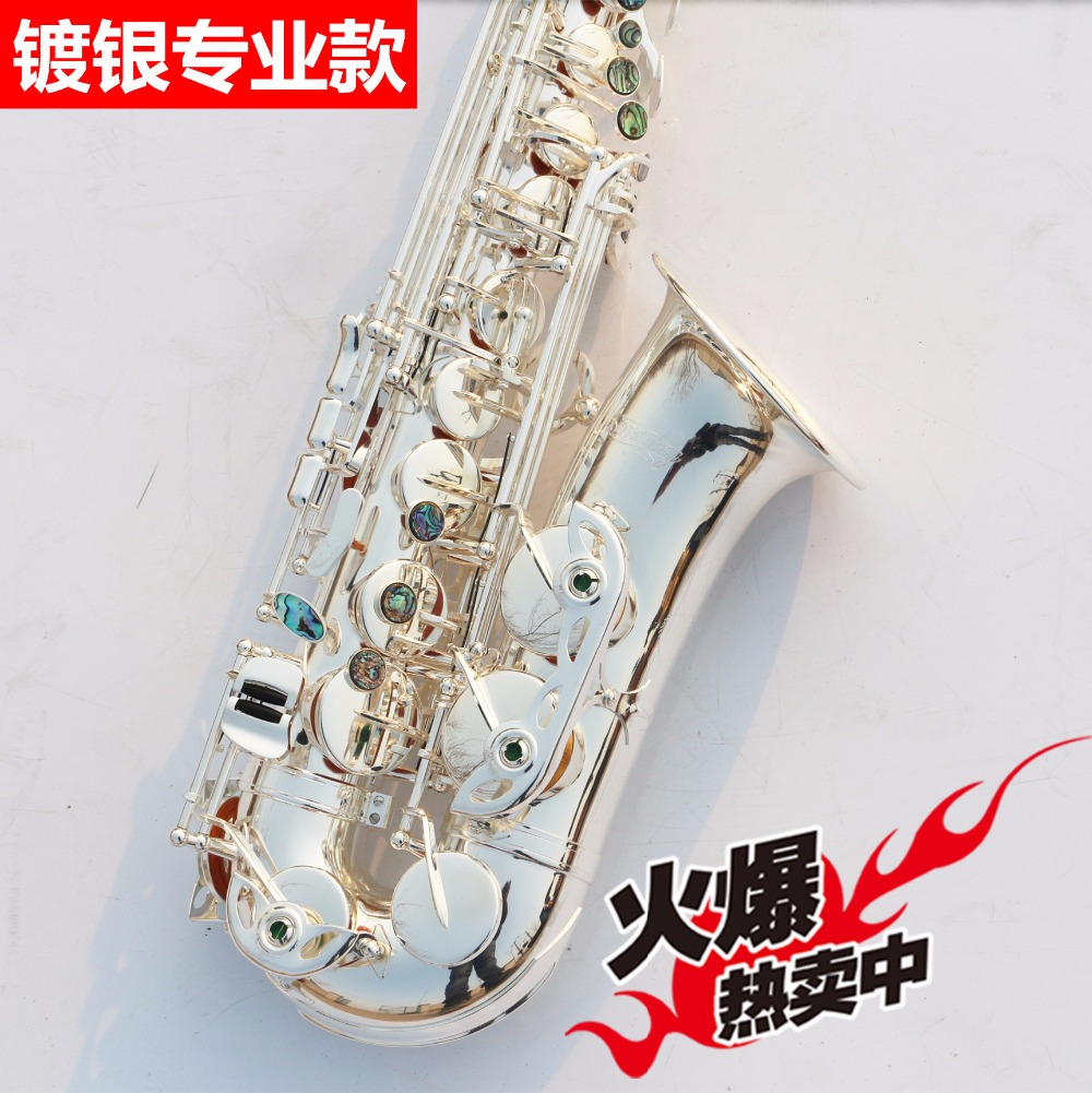Sax instruments High quality Selmer 803 saxophone silver plated E alto Sax Professional level Special offer shipping instru tenor saxophone free shipping selmer instrument saxophone wire drawing bronze copper 54 professional b mouthpiece sax saxophone