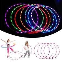 90 см LED Glow Hula Hoop Многоцветный Хооп Игрушечные лошадки свободные Вес игрушки дети ребенка загораются Игрушечные лошадки
