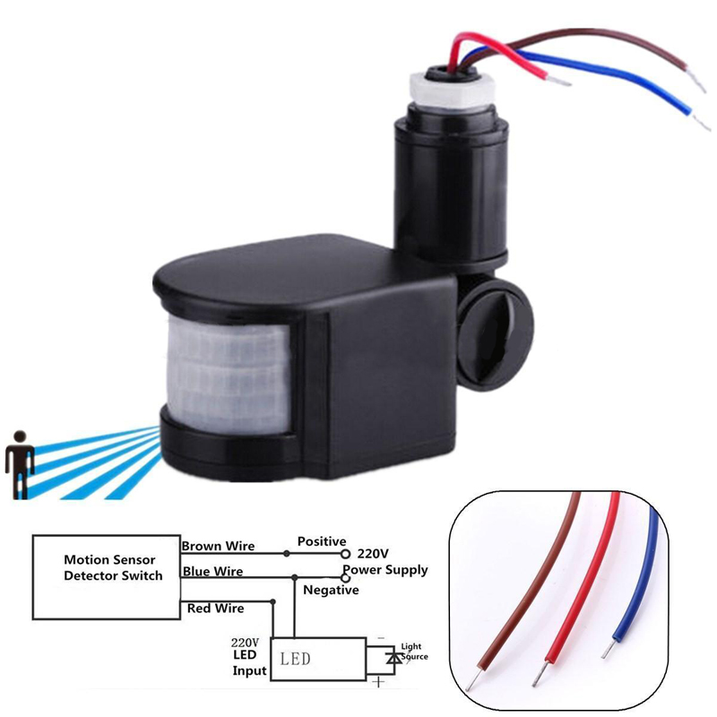 motion sensor wall light wiring diagram aliexpress.com : buy 110 220v outdoor led infrared motion ...