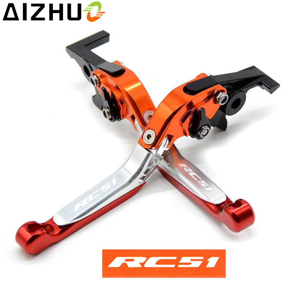 For Honda RC51 RVT1000R VTR1000 SP1 2000 2006 Motorcycle Clutch Brake Lever CNC Aluminum Extendable Adjustable