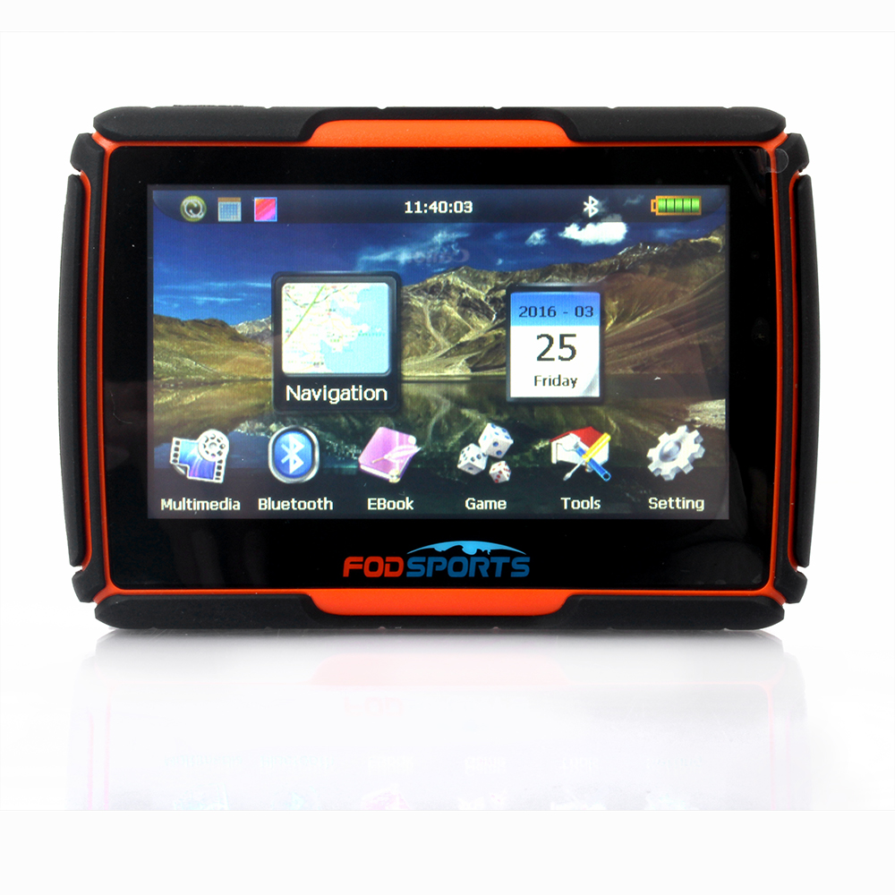 2016 new 256 ram 8gb flash 4 3 inch gps moto navigation fm gps navigator para moto gps. Black Bedroom Furniture Sets. Home Design Ideas