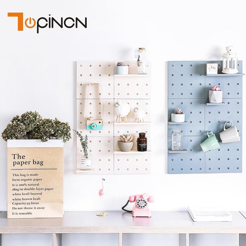 US $4.74 5% OFF|Modern Plastic Storage Rack Decor Living Room Kitchen Wall  Hanging Boards Home Storage Shelf Bathroom Kitchen Hanger Rack-in Storage  ...
