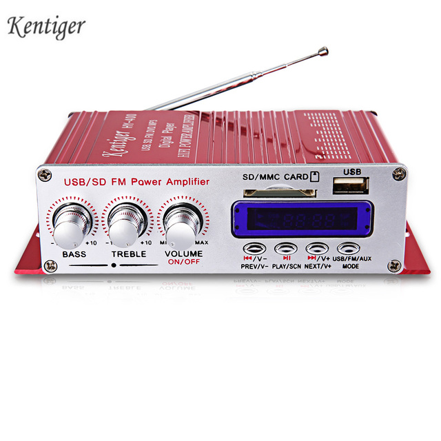 Best Price Kentiger HY-400 Hi-Fi Car Stereo Amplifier Radio MP3 Speaker With FM LCD Display Power Player for Auto Motorcycle Remote Control