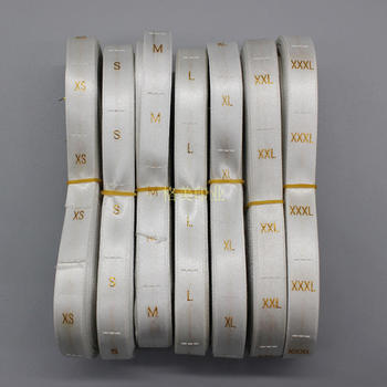 Free shipping GARMENT SIZE EMBROIDERED LABEL size pure tag,garment customized white woven label clothing size tags 3500pcs  lot