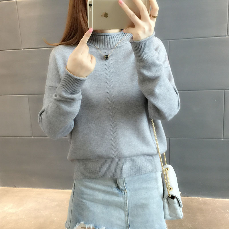 a202714bcd Gogoyouth 2018 Autumn Fashion Ladies Pullover Female Tricot Women  Turtleneck Jersey Jumper Winter Sweater Women Top Pull Femme-in Pullovers  from Women s ...