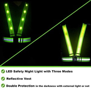 Image 5 - ריצה LED בטיחות רעיוני אפוד USB טעינה גבוהה ראות להתאמה גודל ציוד ריצה כלב הליכה אופנוע בתנועה