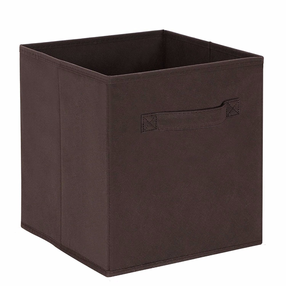 new cube non woven fabric folding storage bins for books. Black Bedroom Furniture Sets. Home Design Ideas