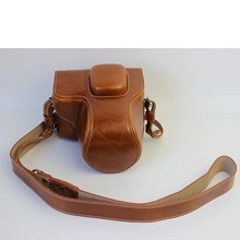Brown Luxury Digital Camera Leather Case Cover for Olympus Pen Lite E-PL7 Camera Case Charging Directly Free Shipping