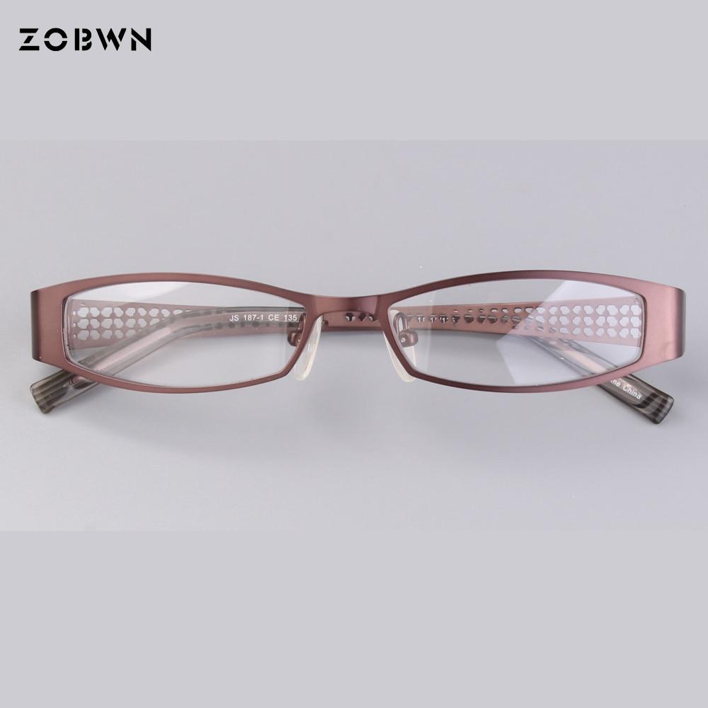 Rosa farbe glasrahmen halbrand Brillen Rahmen Frauen klar Designer ...