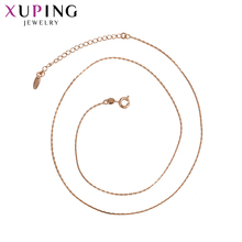 Xuping Fashion Necklace Rose Gold Color Plated Necklace Personalized Jewelry for Women Christmas Day Gifts S69,3-43486
