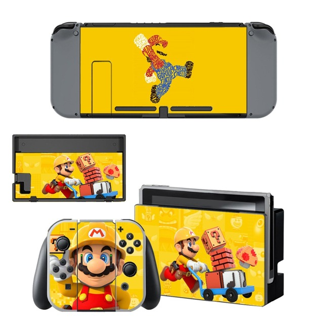 Nintend Switch Vinyl Skins Sticker For Nintendo Switch Console and Controller Skin Set - For Super Mario 2