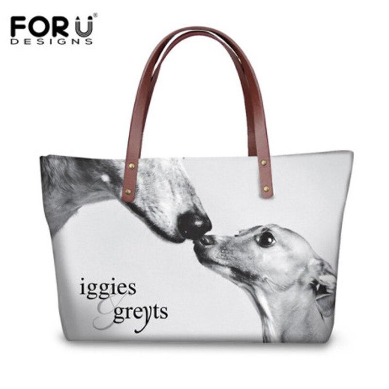 FORUDESIGNS Handbags Women Messenger Bags 3D Dog Greyhound Brand Designer Female Large Capacity Crossbody Bags for Ladies Bolsa