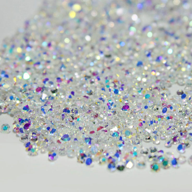 Shiny 1.2mm Crystal Pixie AB Clear Glass Micro Rhinestones for Nails Crystals Strass Nail Art Decorations Nail Design Strass ab rhinestones for nails glass mix size clear strass nail art decorations 3d nail rhinestones on nails art manicure mjz00280