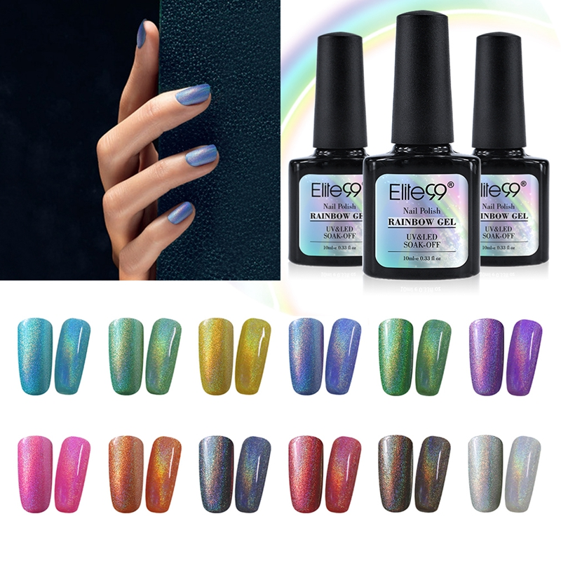 Aliexpress.com : Buy Elite99 Colorful Rainbow UV Nail Gel