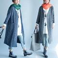 2017 Женщины Осень Зима Китайский Национальный Стиль Вышивка Шерстяной Длинный Кардиган Ветровка Элегантные Ретро Свободно Шерстяное Пальто