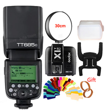 Godox TT685C +X1C TTL Flash & Trigger Set Wireless 2.4G Speedlite Transmitter for Canon EOS 1000D 70D 60D 5D2 5D3 6D 7D 650D