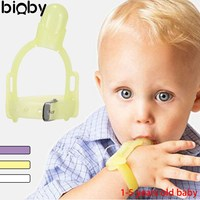 Baby Teethers Thumb Gloves Stop Thumbsucking Teether Prevent The Baby Finger Bite Prevention Of Child Give