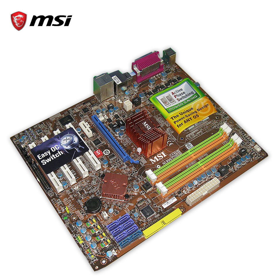 Original MSI P45 NEO3-F Desktop Motherboard P45 Socket LGA 775 DDR2 16G SATA2 USB2.0  ATX 100% Fully Test original msi g41m4 l desktop motherboard g41 socket lga 775 ddr2 8g sata2 usb2 0 micro atx 100% fully test