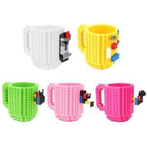Image 5 - 350ML kupa bardak süt kahve su Build On tuğla tipi kupa bardak su tutucu yapı taşları tasarım hediye