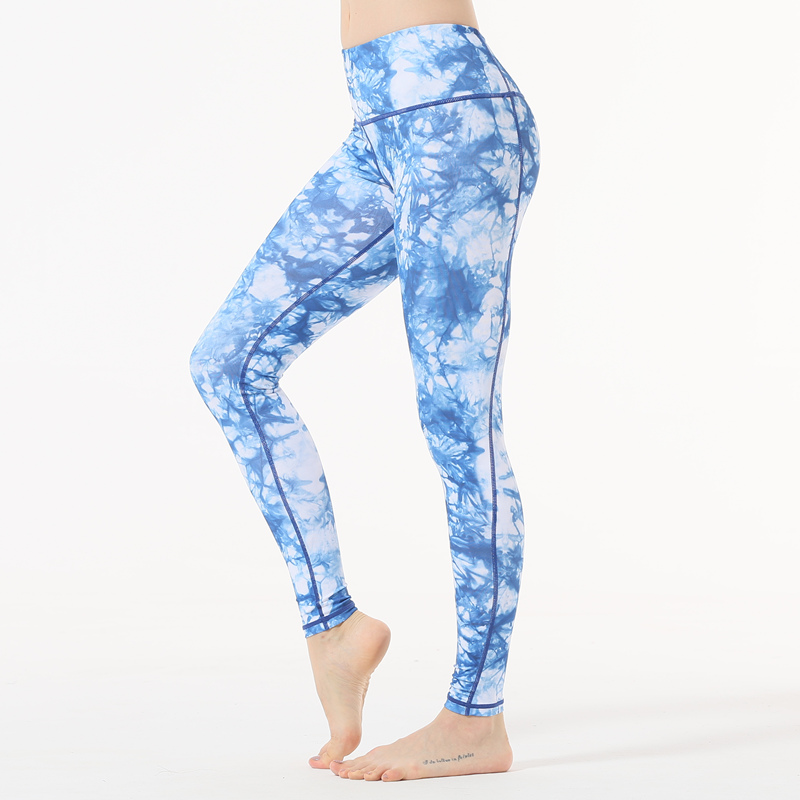 432b596368d56 Mouse over to zoom in. Sky blue yoga pants 3D Print Running Tights High  Waist Gym jogging workout Women ...
