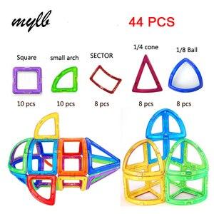 mylb 44pcs magnetic building blocks toys magnetic designer toys for children magnetic toys for kids children's educational toys