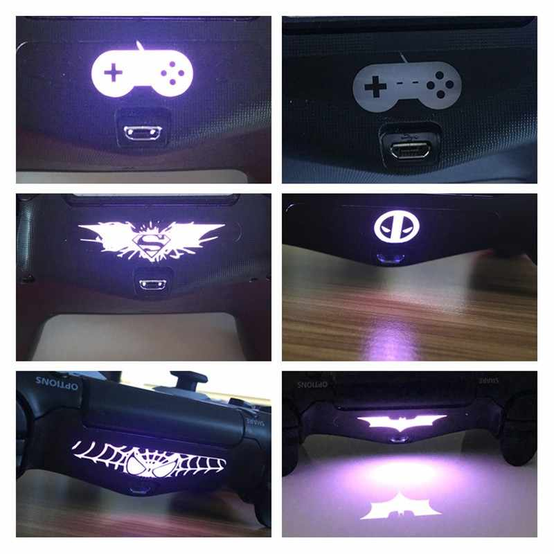 40 Pcs PVC Decal LED Light Bar Skin Sticker For Playstation4 High Qaulity Custom Decal for PS4 Dualshock Controller Hot selling