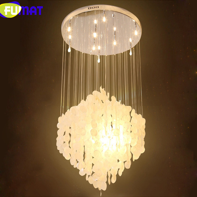 Shell Lighting Fixtures FUMAT Natural Shells Pendant Lighting