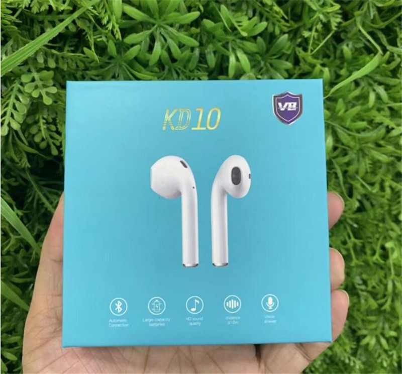 KD10 <font><b>V8</b></font> <font><b>Tws</b></font> <font><b>Bluetooth</b></font> Earphone Wireless Charging Headphones headsets with Pop UP Function for Iphone Samsung Huawei Xiaomi image
