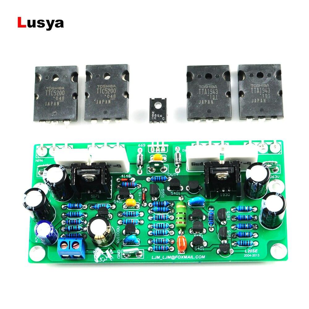Jlh 1969 Audio Class A Amplifier Mot 2n3055 Assembled And Diy Kit 50w 2pcs L20 Se Board A1943 C5200 Dual Channels 350w Amplifiers Amp 4ohm