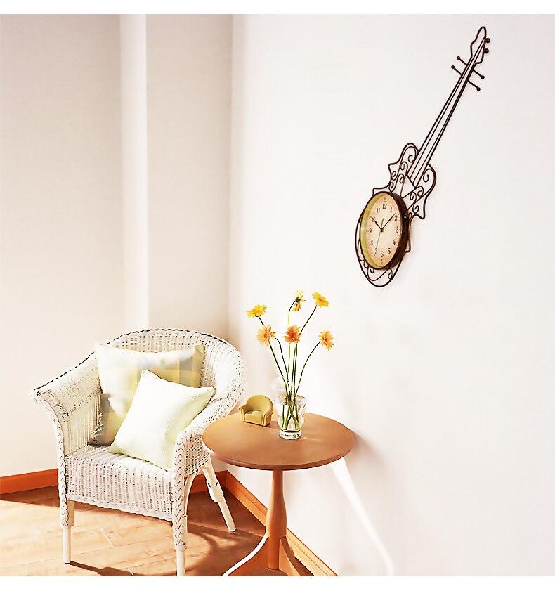 Meiju horloges rustiques horloge murale moderne personnalisé décoration horloge style américain quartz montre de poche