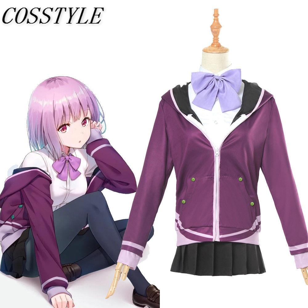 SSSS.GRIDMAN Shinjo Akane Cosplay Costumes 2018 Japanese Anime Denkou Choujin Gridman School Uniform Outfit for Women Full Set