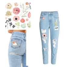 Small Size Flower and Bird Heat Transfer Patch DIY T-Shirt Underware Jacket Hat Socks Ironing Heat Transfer Sticker Washable nucleation condensation and heat transfer