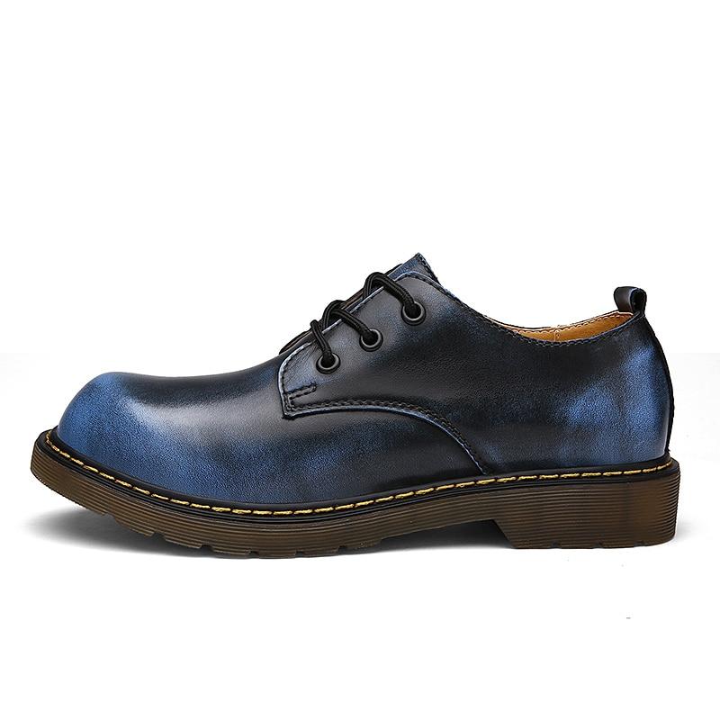 Água À D' Homens Reais Mens De Genuíno Confortáveis Para Couro Sapatos Botas Os Preto Vinho Ankle vermelho Ramialali Boots cinza Prova New Outono marrom azul Dos Qualidade CqwPP6
