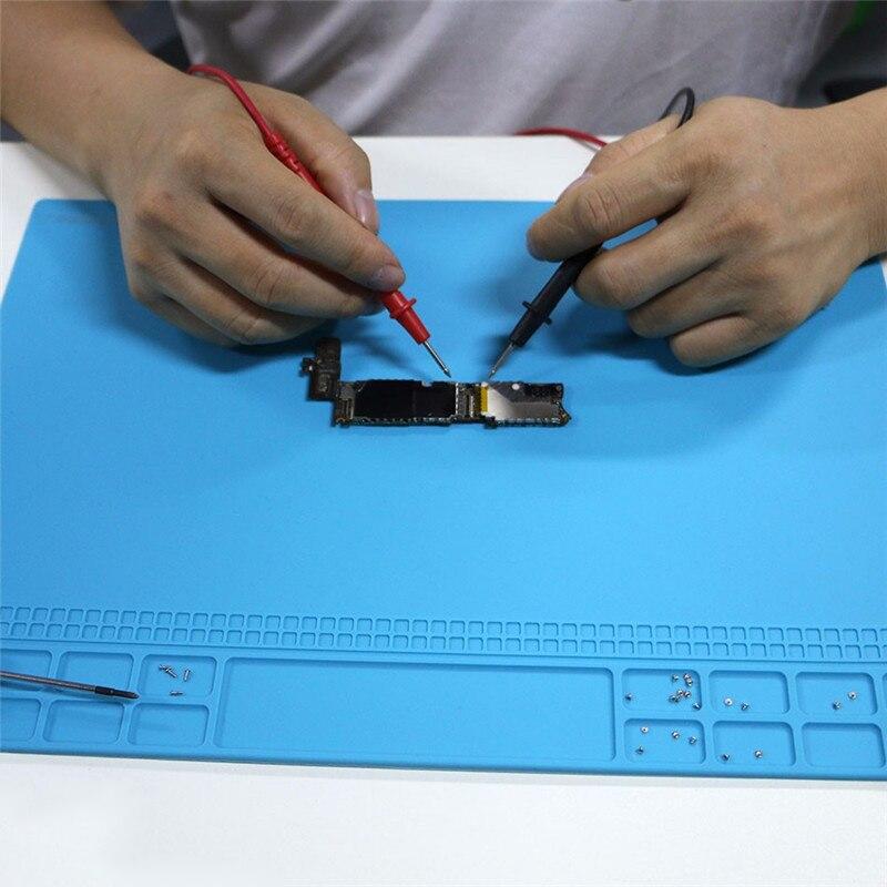 Šviesiai mėlynos spalvos šilumą izoliuojančio silikono padėklo - Įrankių komplektai - Nuotrauka 2