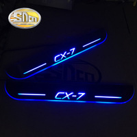 SNCN 4PCS Car LED Door Sill For Mazda CX 7 CX7 2007 2017 Ultra thin Acrylic Dynamic LED Welcome Light Scuff Plate Pedal