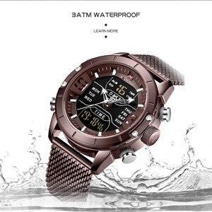 Image 4 - NAVIFORCE Men Watch Top Brand Luxury Sport Watches LED Military Waterproof Steelstrap Wristwatch For Gift relogio masculino 9153