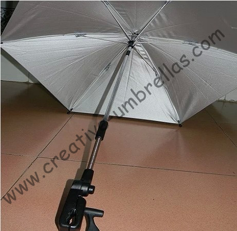 new style Clamp,UV protecting,Baby stroller umbrella,baby car umbrellas,three in one,8mm steel shaft and fiberglass ribs,clip
