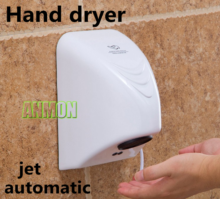 Free shipping automatic sensor hand dryer household type secador jet hand-drying device wall machine small infrared air dry  цены