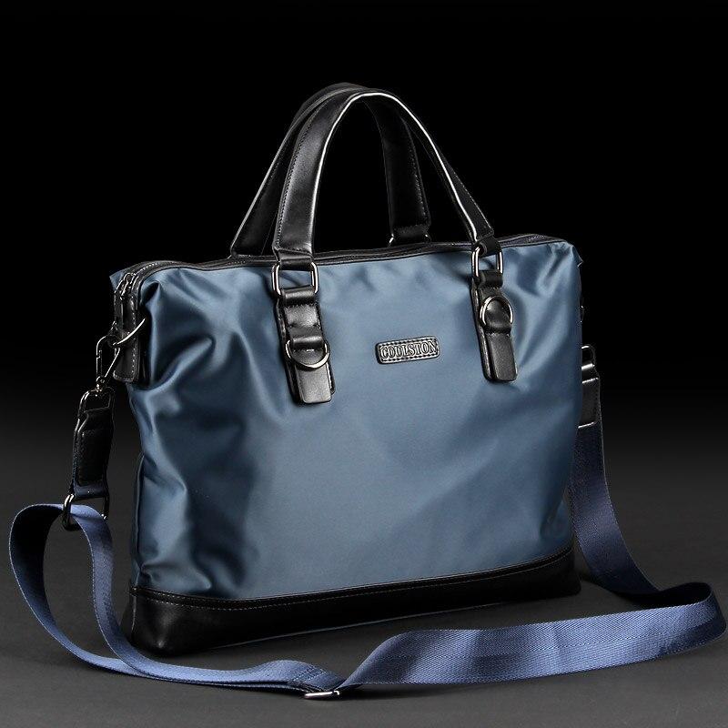 Новый 2017 ткань Оксфорд мешок человек сумка случайный нейлон мужской холст деловая сумка, мужчины холст портфель сумка для ноутбука