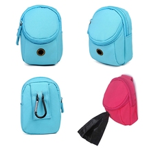купить Puppy Cat Dog Bag Waste Dog Pet Poo Puppy Pick-Up Bags Pet Poop Bag Holder Hook Pouch Portable Waste Clean Up Bags Litter PY дешево