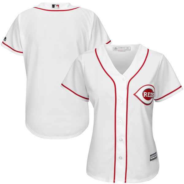 MLB Womens Cincinnati Reds White Home Cool Base Jersey