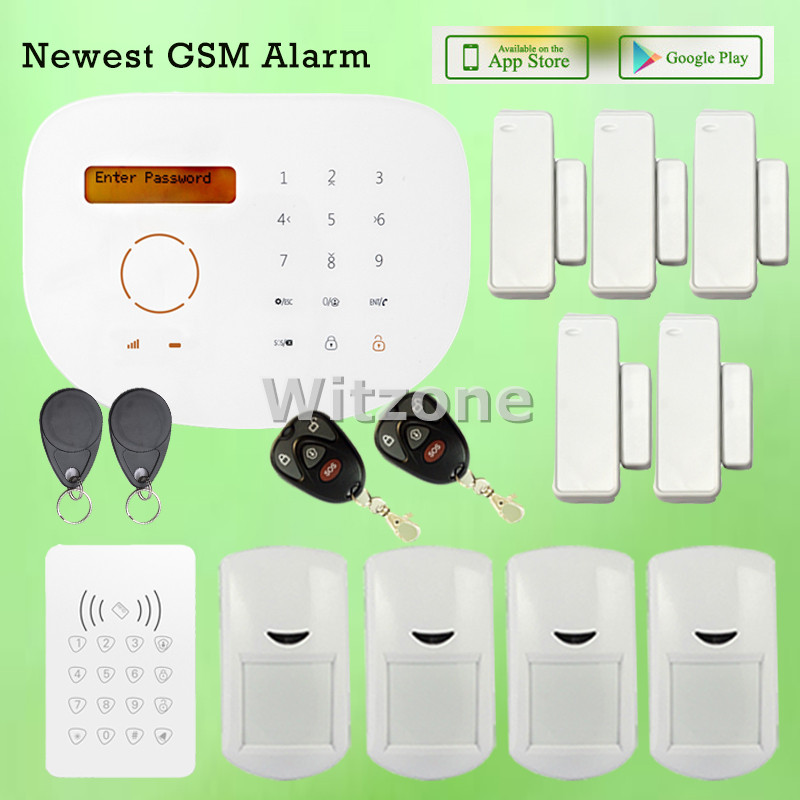 Smart APP Remote GSM Alarm Secure System for Home Use GS-S2G, LCD Display Word Menu Touch panel, CE&ROHS Approved 360 plum s word