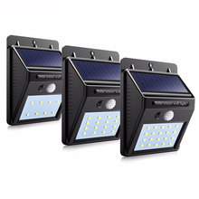 LED outdoor solar sensor lamp automatically wall waterproof garden street light motion public road Night bulbs keep lighting
