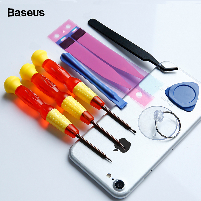 Baseus 8 In 1 Mobile Phone Repair Tools Kit For IPhone 8 7 6 6s Plus 5s 5 Battery