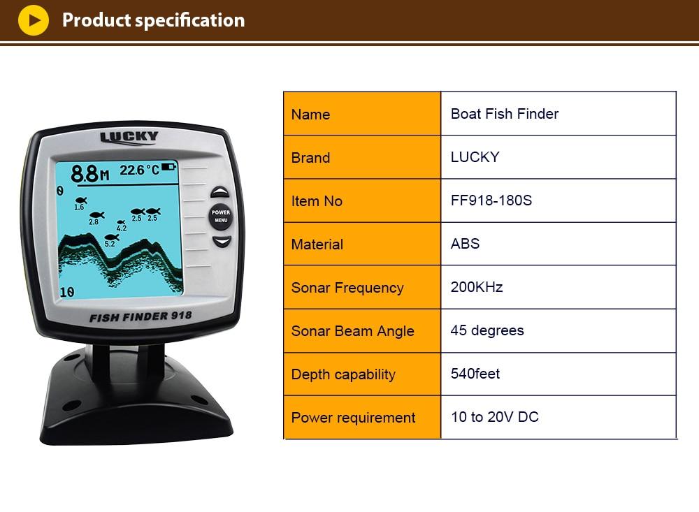 sonar sonda findfish eco sensor fishfinder FF918-180S