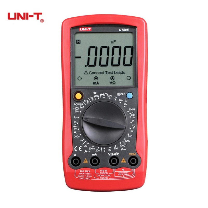 UNI-T UT58E General Digital Multimeter Full Icon LCD Display Temperature AC DC LCD Display Professional Electric Handheld Tester хайлайтер catrice dewy wetlook stick 010 цвет 010 splash n glow variant hex name f3e4e4