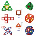 14 pcs magnética blocos de tijolos para construção de modelos 3d diy brinquedos aprendendo brinquedos de plástico educacionais blocos ímã para presente das crianças