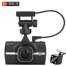QUIDUX Car DVR GPS Camera ADAS Dual Lens Full HD 1296P Video Recorde LDWS Parking Monitor Registrar Night vision dashcam Tracker