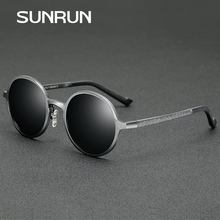 SUNRUN 2017 New Brand Round Polarized Women Sunglasses Aluminum Magnesium Frame Driving Fashion Sun Glasses Oculos 8552