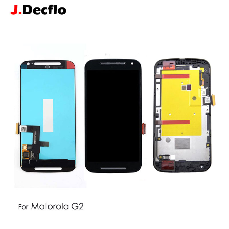 For <font><b>Motorola</b></font> MOTO G2 G+1 XT1063 <font><b>XT1068</b></font> XT1069 LCD <font><b>Display</b></font> Touch Screen With/No Frame Digitizer Full Assembly Best Quality image